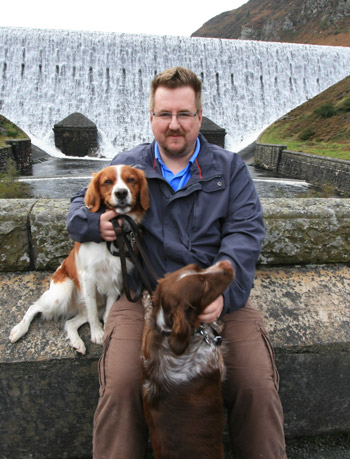 me, with my dogs at the Elan Valley - OCt 2008
