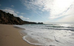 The beach at Porthcurno on a glorious mid winters day - Cornish dream