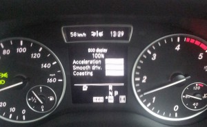 100% efficient driving means you get more MPG