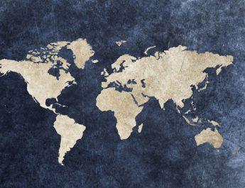 world map global warming