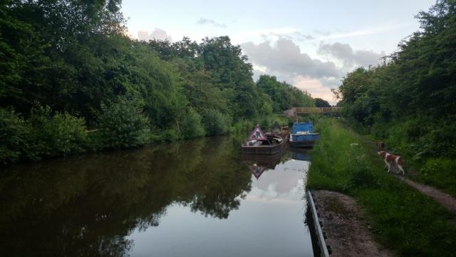 Canal path repairs, near Bridge 71
