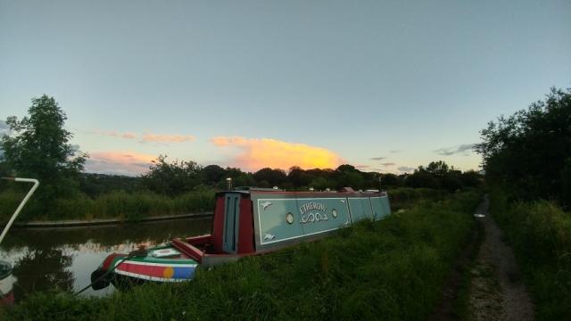 Congleton Aqueduct moorings at sunset