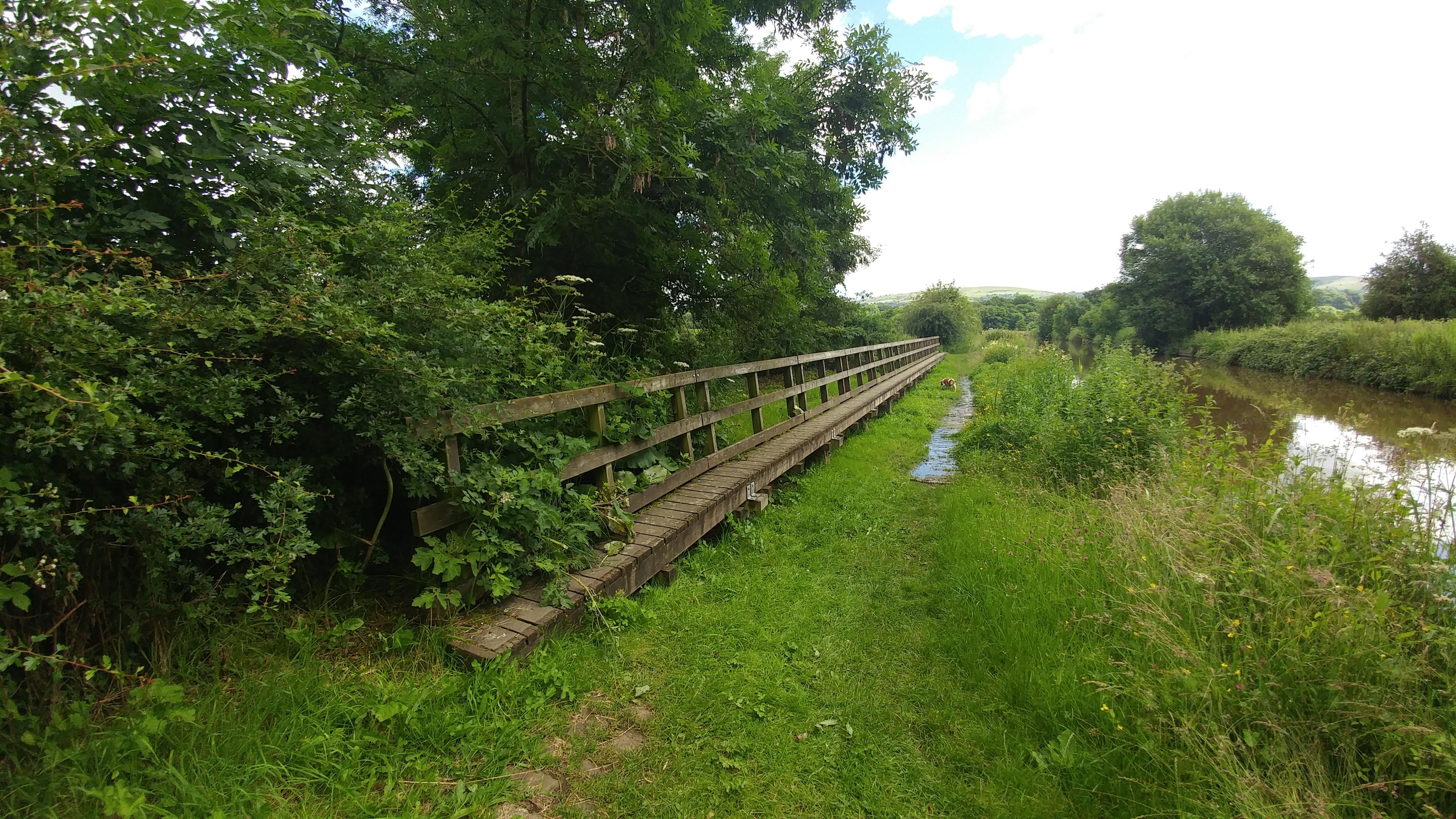 Walkway over the spilway near bridge 57