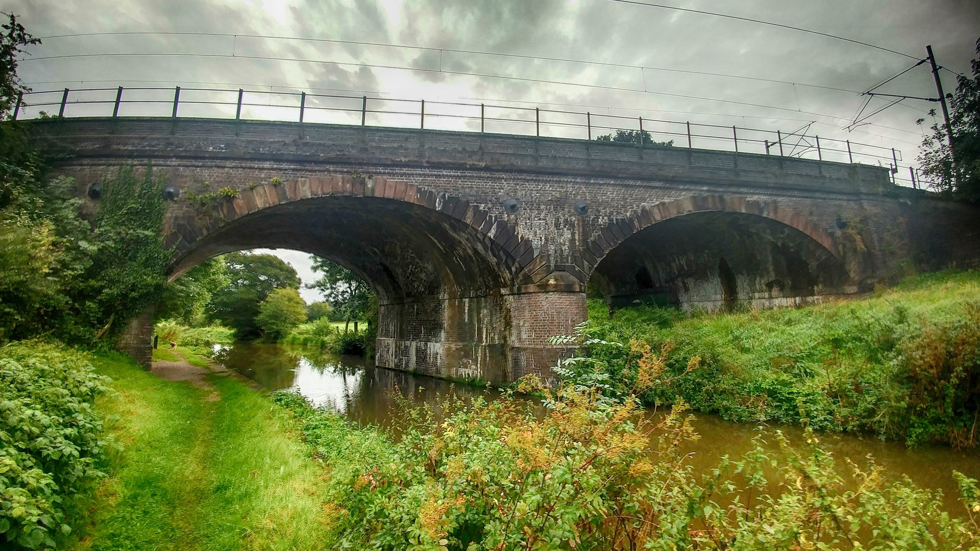 Main West Coast Railway line over the canal, in between Bridge 59 and 60