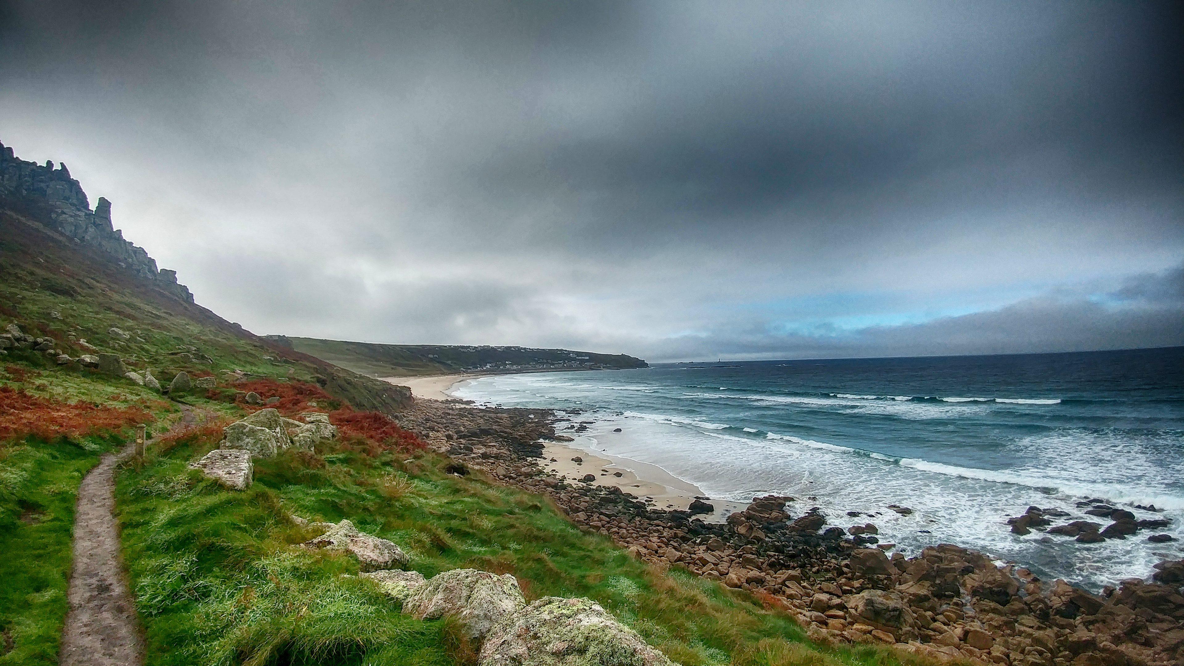 from near Gwynver Beach