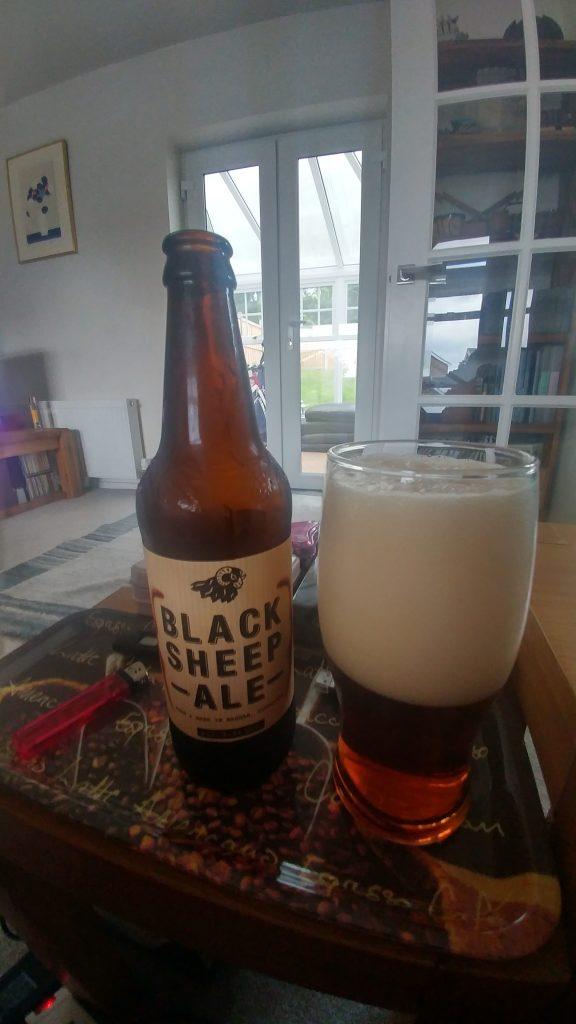 Bottle of Black sheep ale