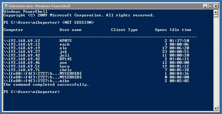 Find out which domain user is logged into which workstation on Windows Server using windows powershell
